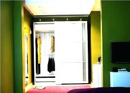 mirror closet door rollers sliding doors track system interior installing