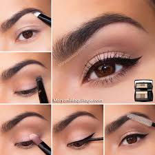 natural make up for brown eyes