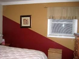 painting a room two colorsPainting Idea TwoColor Diagonal Statement Wall