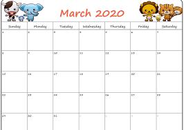Cute March 2020 Calendar Floral Free August 2019 Calendar