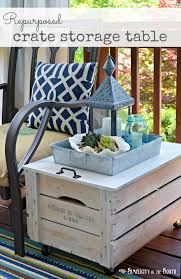 diy ideas turn a crate into an indoor outdoor storage side table