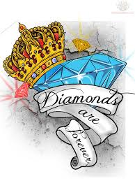 Crown Diamond And Banner Tattoo Design тату татуировки