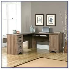 desk sauder harbor desk with hutch sauder harbor view corner computer desk salt oak sauder