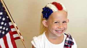 Fourth Of July Hairstyles 4th Of July Flag Hairstyle Hair 101 Cute Tutorial Youtube