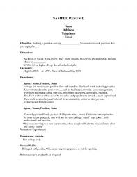 First Job Resume No Experience Cool Resume For First Job Templates Breathtaking After Out Of College