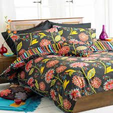 paoletti bengal indian fl cotton duvet cover set black multi single linens limited