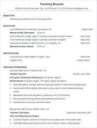 Teaching Resumes Format Resume Examples Ontario