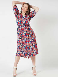 The Style Ivy Women A Line Blue Dress Buy The Style Ivy