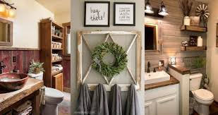 The farmhouse theme is actually ideal for people on a budget because it uses so many repurposed elements! Barn Wood Ideas For Bathroom Farmhouse Style My Wall Decor Ideas