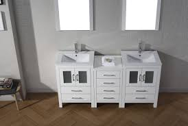 66 inch bathroom vanity. Virtu USA Dior 66 Double Bathroom Vanity Set In White Inch