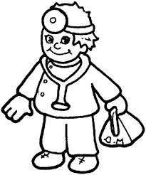 little doctor in community helpers coloring page   netartlittle doctor in community helpers coloring page