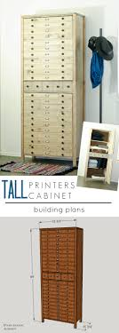 Hidden Printer Cabinet Pneumatic Addict Tall Printers Cabinet