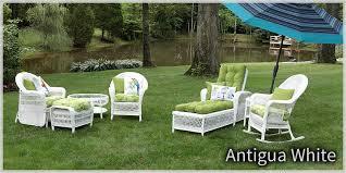 Captivating White Wicker Patio Furniture Antigua White Wicker