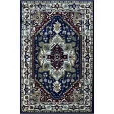 navy and ivory machine tufted traditional wool rug blue 8x10 hand