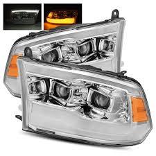2007 Dodge Ram 2500 Fog Light Bulb Size Alpharex Chrome For 13 18 Ram 1500 2500 3500 Factory Projector Drl Signal Led Dual Projector Headlights