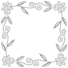 Photo Frame With Flowers Coloring Pages Picture Frame Ideas