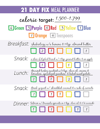 30 Day Beachbody Challenge Chart 3 Steps For Successful 21 Day Fix Meal Planning The