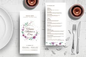 Mother S Day Menu Template Mothers Day Menu Template In Psd Ai Vector Brandpacks