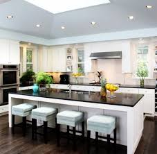 Kitchen Island With Bench Seating And Table For Modern Home Kitchen White  Colors