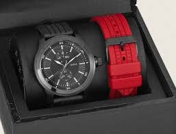 new guess men watch red amp black rubber silicone strap gift box i214 photobucket com albums cc91 timecollections
