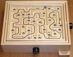 Wooden Maze Game With Ball Bearing Metal Balls Labyrinth BoardGameGeek 91
