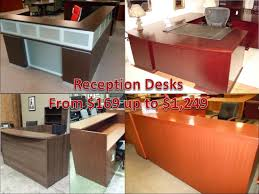 reception desks commercial quality componets lockable pedestals features full ball bearing suspension available in cherry mahogany expresso
