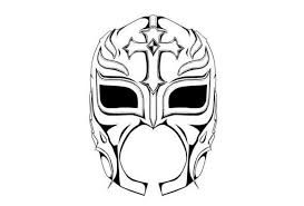 Wwe Coloring Pages Rey Mysterio Mask Coloringstar