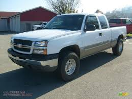 2003 Chevrolet Silverado 1500 Z71 Extended Cab 4x4 in Summit White ...