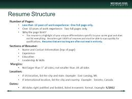 resume number of pages