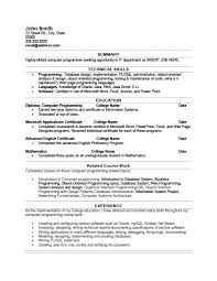 programmer sample resume - Fast.lunchrock.co