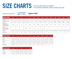 Port Company Sizing Chart