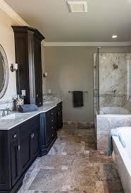 san francisco sea glass tiles with mirror and shower door dealers bathroom transitional his her sinks