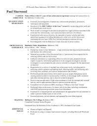 Resume For Law Enforcement Roddyschrock Com