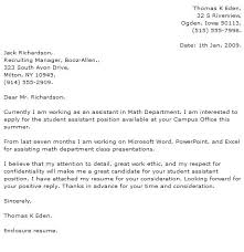 Part Time Cover Letters Examples Of Cover Letters For College Students Student Cover Letter