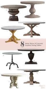 8 round metal stone concrete outdoor dining tables making it lovely