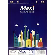 Flip Chart Pad Maxi Flip Chart Pad Plain White 23