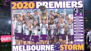 The melbourne storm is a rugby league club based in melbourne, victoria in australia, that participates in the national rugby league. Nrl Grand Final Melbourne Storm Souvenir Premiers Poster Herald Sun