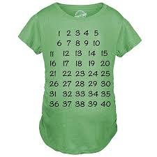 Maternity Calendar Countdown Pregnancy Tee Mark Off Baby Announcment Tshirt