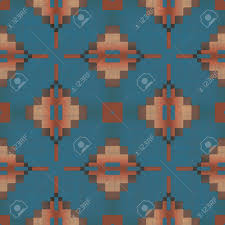 Southwest Pattern Custom Southwest Pattern Seamless Texture Tile Stock Photo Picture And