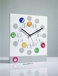 wall clock silver stamps watches