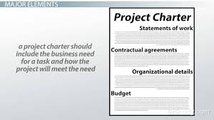 project charter sample what is a project charter elements example video lesson