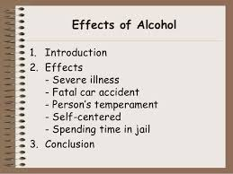 cause effect essay effects of alcohol