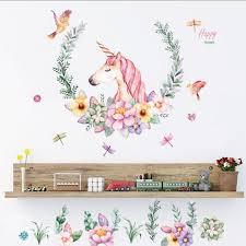 unicorn wall decals girls bedroom wall stickers room wall decor