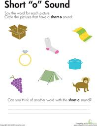 Choose the word that has a particular sound. Short O Vowel Worksheet Education Com