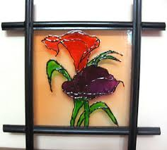 Floral glass painting patterns