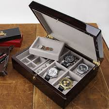 biltmore mens valet 4 pc watch box american box biltmore ultimate mens valet 4 pc watch box