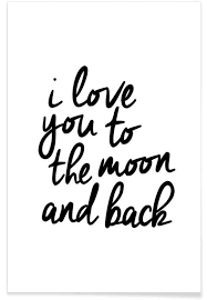 home wall art premium posters on love you to the moon and back wall art uk with i love you to the moon and back as premium poster juniqe uk