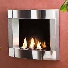 wall mount gel fireplace stainless steel wall mount fireplace ping