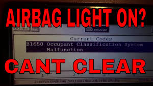 2007 Tundra Airbag Light On Toyota Airbag B1650 Occupant Classification How To Reset Program