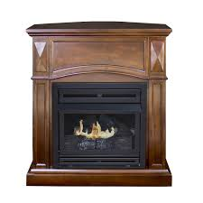 pleasant hearth convertible vent free dual fuel fireplace 35 inch